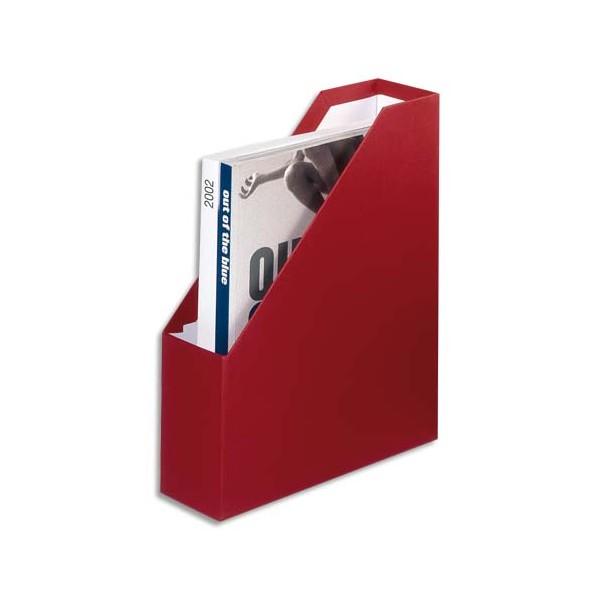 Fast porte revues toile carton recouvert de papier toil dos de 9 cm coloris rouge for Porte revue vertical