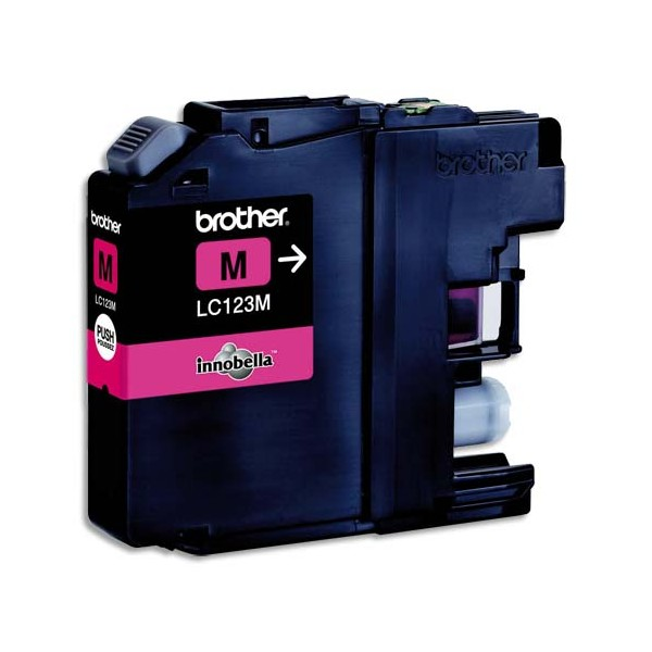BROTHER Cartouche jet d'encre magenta LC123M (photo)