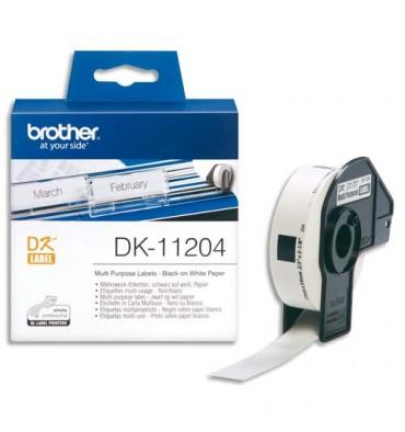 BROTHER Rouleau de 400 étiquettes multiusage 17x54mm pour étiquetteuses QL500 et QL550 DK11204