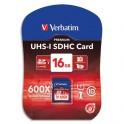 VERBATIM Carte SDHC 16Go Premium Class 10 43962 + redevance