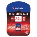 VERBATIM Carte SDHC 32Go Premium Class 10 43963 + redevance