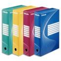 ESSELTE Lot de 10 boîtes à archives BOXY dos de 8 cm en carton ondulé, coloris assortis