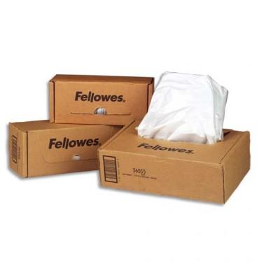 FELLOWES Boîte de 100 sacs de destructeurs 23 à 28 litres - Pour modèles jusqu'à 79Ci 36052