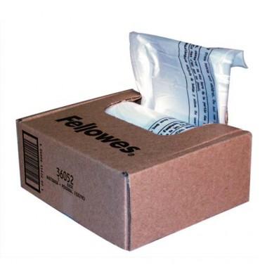 FELLOWES Boîte de 100 sacs pour destructeurs jusqu'à 34 litres : Série 99