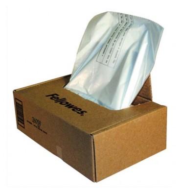 FELLOWES Boîte de 50 sacs pour destructeurs de 121 à 143 litres pour séries 425/485/3250/4250