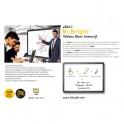 BI-OFFICE Tableau intéractif Bi-Bright eRed 3 - 78'' coloris blanc/noir