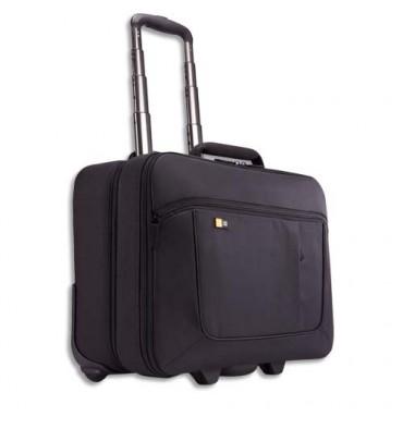 CASE LOGIC Trolley en nylon pour PC de 14 à 18'' + compartient vêtements Dim. L46 x H40,4 x P23,6 cm noir