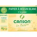 CANSON Pochette 12 feuilles C à Grain 224g format 21 x 29,7 cm