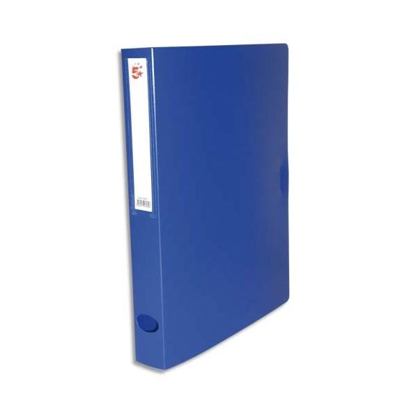 5 ETOILES Boîte de classement dos de 4 cm, en polypropylène 78/10e bleu (photo)