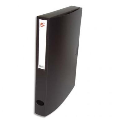 5 ETOILES Boîte de classement dos de 4 cm, en polypropylène 7/10e noir