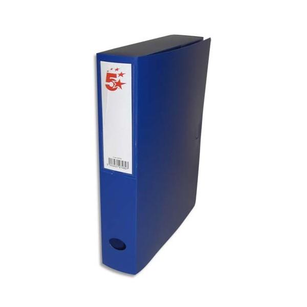 5 ETOILES Boîte de classement dos de 6 cm, en polypropylène 7/10e bleu (photo)