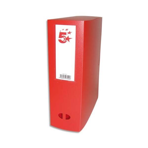 5 ETOILES Boîte de classement dos de 10 cm, en polypropylène 7/10e rouge (photo)