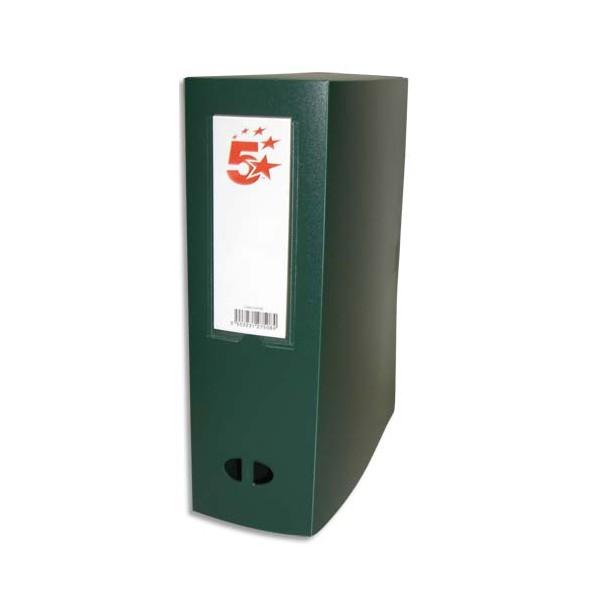 5 ETOILES Boîte de classement dos de 10 cm, en polypropylène 7/10e vert (photo)
