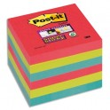 POST-IT Lot 6 blocs repositionnables Super Sticky Vitamine 76 x 76 mm, coloris assortis Bora Bora