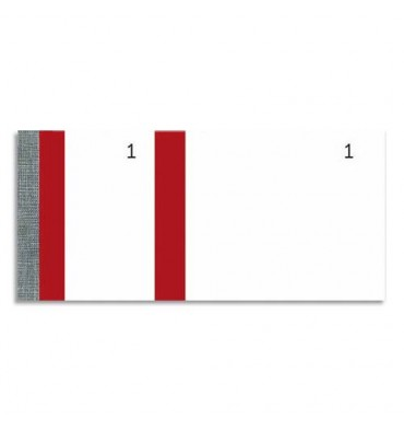 EXACOMPTA 10 blocs vendeur 100 feuillets 60 x 135 mm rouge