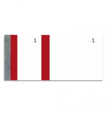 EXACOMPTA Blocs vendeur 100 feuillets 60 x 135 mm rouge