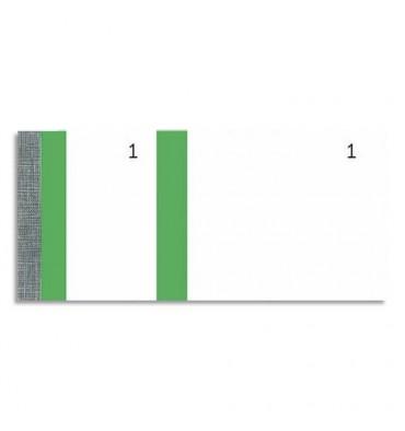 EXACOMPTA 10 blocs vendeur 100 feuillets 60 x 135 mm vert