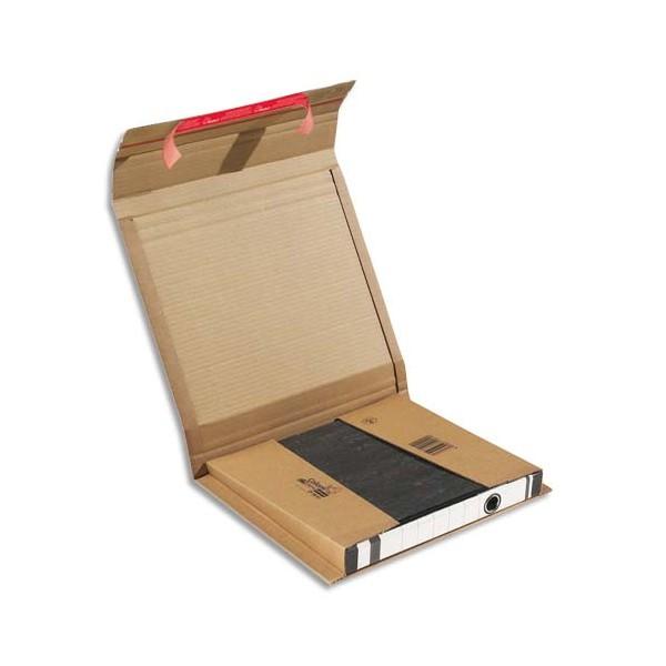 COLOMPAC Boîte d'expédition pour classeur hauteur variable, double fermeture adhésive 29 x 3,5/8 x 32 cm (photo)