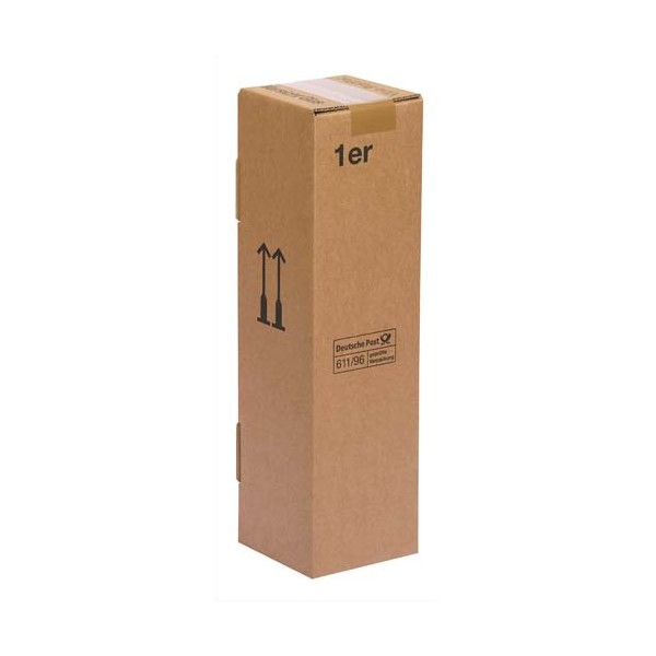 COLOMPAC Boîte d'expédition pour une bouteille - Dimensions 7,4 x 30,5 x 7,4 cm coloris brun (photo)