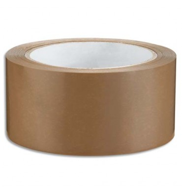 EMBALLAGE Ruban adhésif d'emballage en PVC 53 microns format 48 mm x 66 m havane