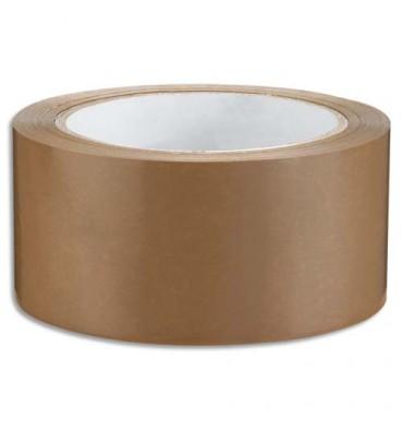 EMBALLAGE Ruban adhésif d'emballage en PVC 53 microns format 50 mm x 66 m havane