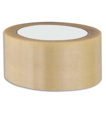 EMBALLAGE Ruban adhésif d'emballage en PVC 52 microns format 50 mm x 66 m havane