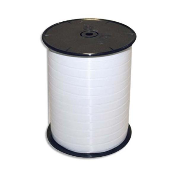 CLAIREFONTAINE Bobine bolduc de comptoir lisse coloris blanc 500m x 7mm (photo)