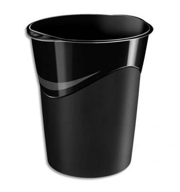 5 ETOILES Corbeille à papier capacité 14 L coloris noir