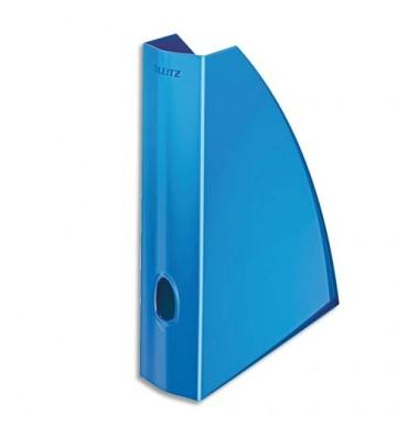 LEITZ Porte-revues WOW A4 - 31,2 x 25,8 cm dos 7,5 cm coloris bleu
