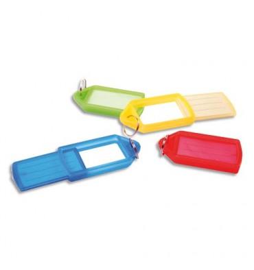 PAVO Sachet de 50 porte-clés avec anneaux - Dimensions 5,7 x 3 cm coloris assortis