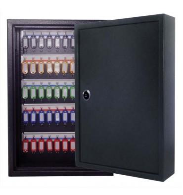 PAVO Armoire à clés 80 clés, serrure à clés 2 fournies - 45 x 38 x 8 cm coloris gris foncé