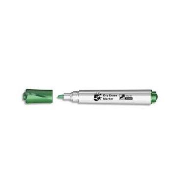 5 ETOILES Marqueur effaçable à sec pour tableaux blancs corps plastique pointe ogive encre verte
