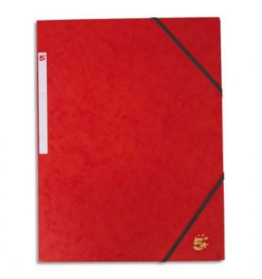 5 ETOILES Chemise simple à élastique en carte lustrée 5/10ème, 450g. Coloris rouge
