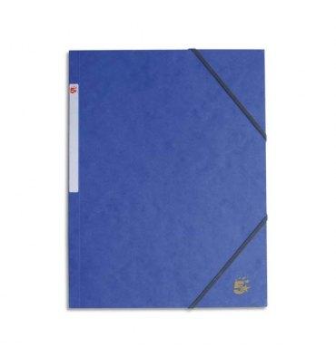 5 ETOILES Chemise simple à élastique en carte lustrée 5/10ème, 450g. Coloris bleu
