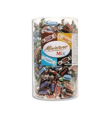 Mars, Bounty, Snikers et Twix Assortiment de mini bonbons confiseries 3 kg