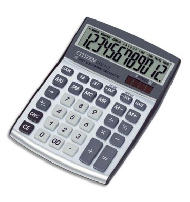 CITIZEN Calculatrice bureau CDC 112 Grise