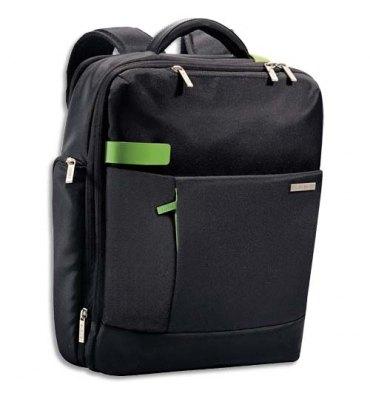 """LEITZ Sac à dos Inch Backpack pour ordinateur 15,6"""", 2 compartiments + pochettes L31 x H40 x P14 cm noir"""