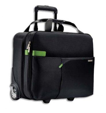 """LEITZ Trolley cabine Inch carry-on 15,6"""" 2 compartiments, fixation pour valise - L43 x H37 x P20 cm noir"""