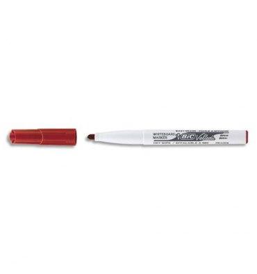 BIC Feutre effaçable à sec pour tableaux blancs pointe ogive encre cétone rouge VELLEDA 1741