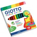 GIOTTO Etui 12 feutres de coloriage Turbo Color. Pointe moyenne. Coloris assortis