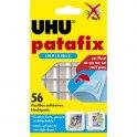 UHU Etui de 56 pastilles Patafix adhésives double face, ultra fines et invisibles. Sans solvant ni acide