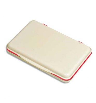5 ETOILES Tampon encreur réencrable ABS, pour timbre caoutchouc ou résine L11 x P7 cm encre rouge