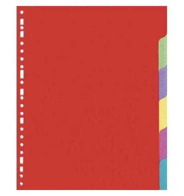 5 ETOILES Jeu d'intercalaires 6 positions en carte lustrée colorée 225g, 3/10. Format A4.