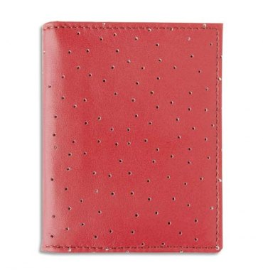OBERTHUR Porte-cartes KINGSTON cuir pleine fleur. 8,5 x 11 cm et 2 rabats intérieurs. 4 coloris assortis
