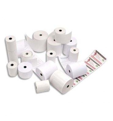 NEUTRE Bobines de papier thermiques SANS PHENOL, papier 48g - dimensions : 57 x 40 x 12 mm - 18 m