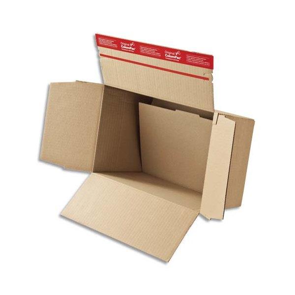COLOMPAC Carton fond automatique - Dimensions : 44,5 x 31,5 x 18-30 cm coloris brun (photo)