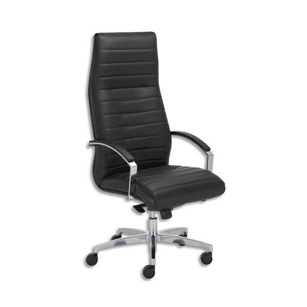 fauteuil lynx en cro te de cuir noire pi tement en fonte. Black Bedroom Furniture Sets. Home Design Ideas