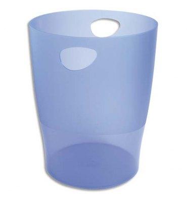 EXACOMPTA Corbeille à papier ECO 15 L bleu translucide