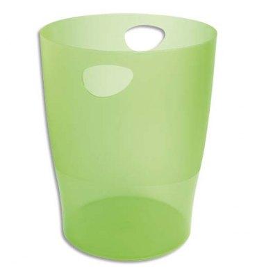 EXACOMPTA Corbeille à papier ECO 15 L vert translucide