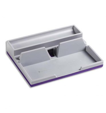 DURABLE Desk organiseur Varicolor en ABS support tablette avec 2 compartiments, coloris violet gris